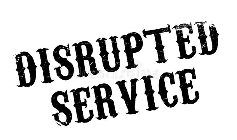 Tampon en caoutchouc abrupt de service illustration stock
