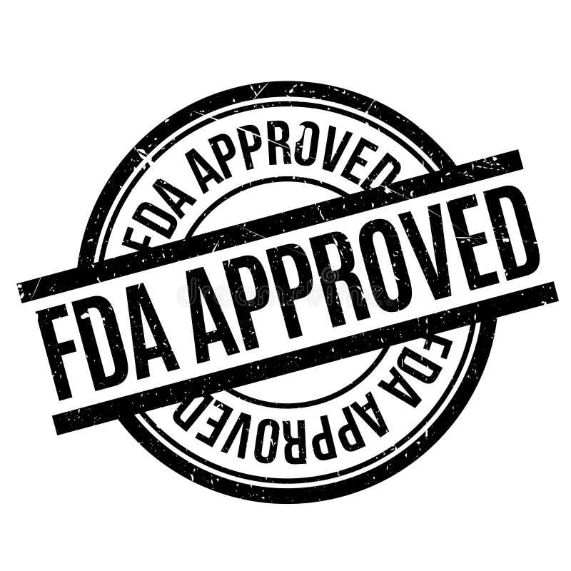 Tampon en caoutchouc approuvé par le FDA illustration de vecteur