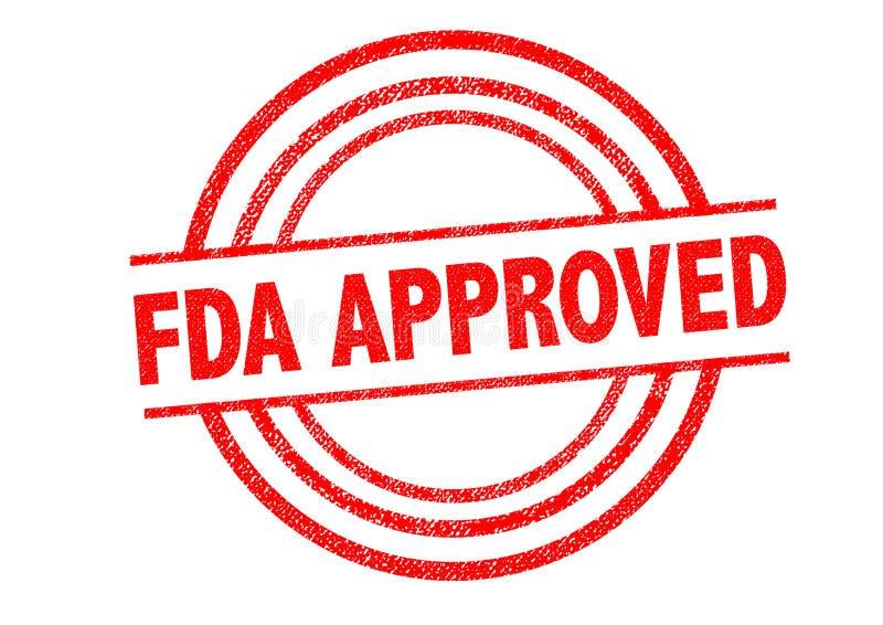 Tampon en caoutchouc approuvé par le FDA illustration libre de droits