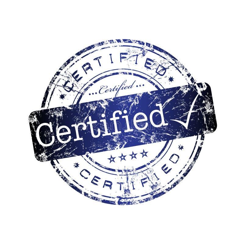 Tampon en caoutchouc certifié illustration stock
