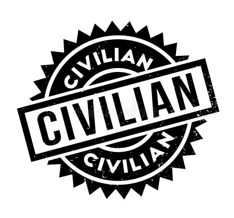 Tampon en caoutchouc civil illustration libre de droits