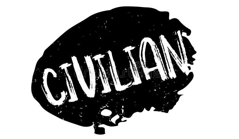 Tampon en caoutchouc civil illustration stock