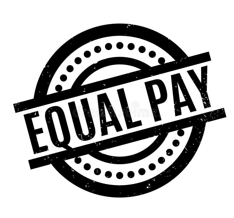 Tampon en caoutchouc d'égalité de salaires illustration stock
