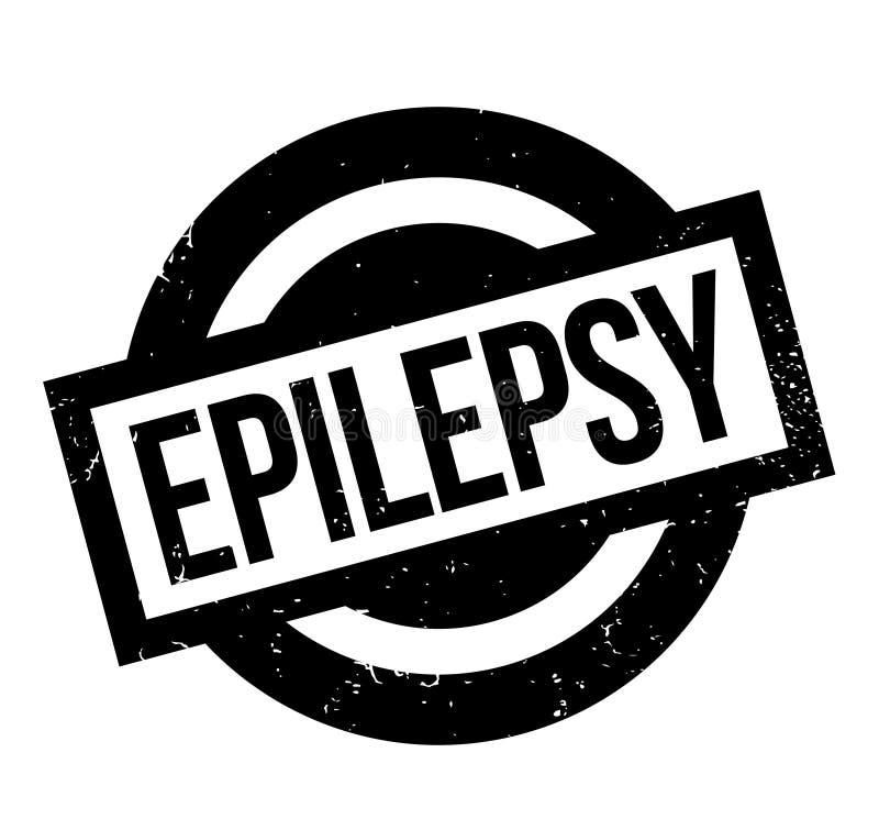 Tampon en caoutchouc d'épilepsie illustration de vecteur