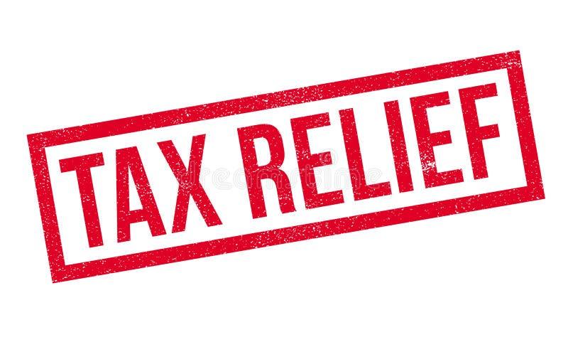 Tampon en caoutchouc d'allégement fiscal d'impôts illustration de vecteur