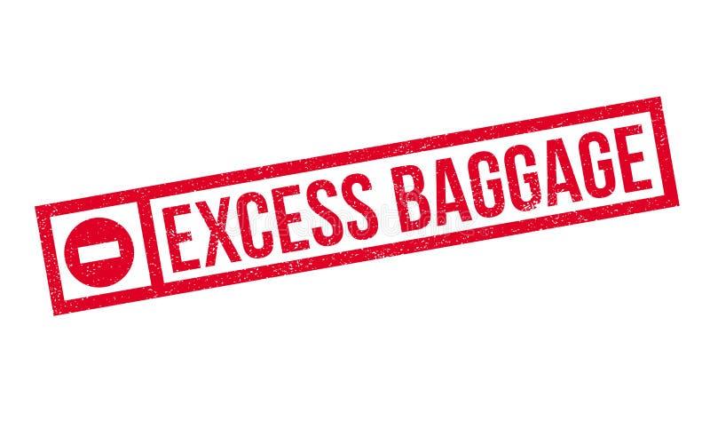 Tampon en caoutchouc d'excédent de bagages illustration libre de droits
