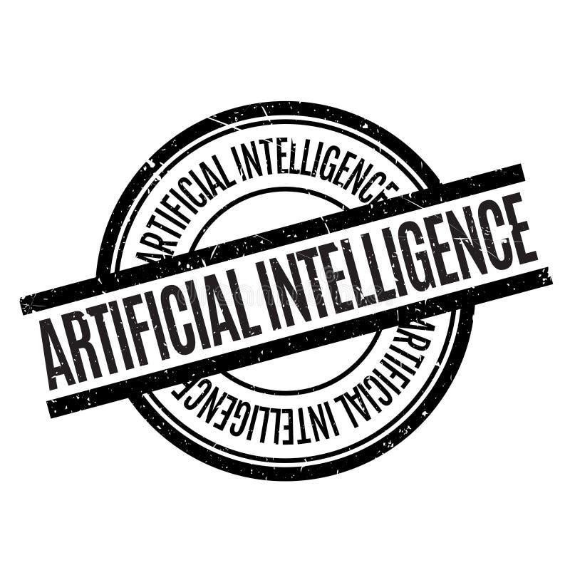 Tampon en caoutchouc d'intelligence artificielle illustration de vecteur
