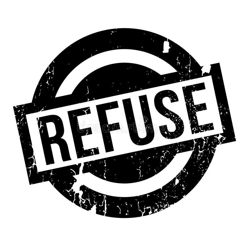 Tampon en caoutchouc d'ordures illustration libre de droits