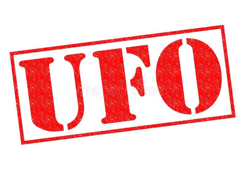 Tampon en caoutchouc d'UFO illustration de vecteur