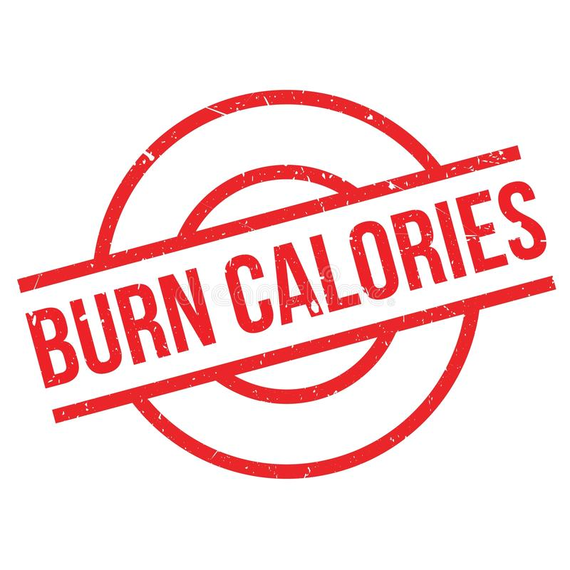 Tampon en caoutchouc de calories de brûlure illustration libre de droits