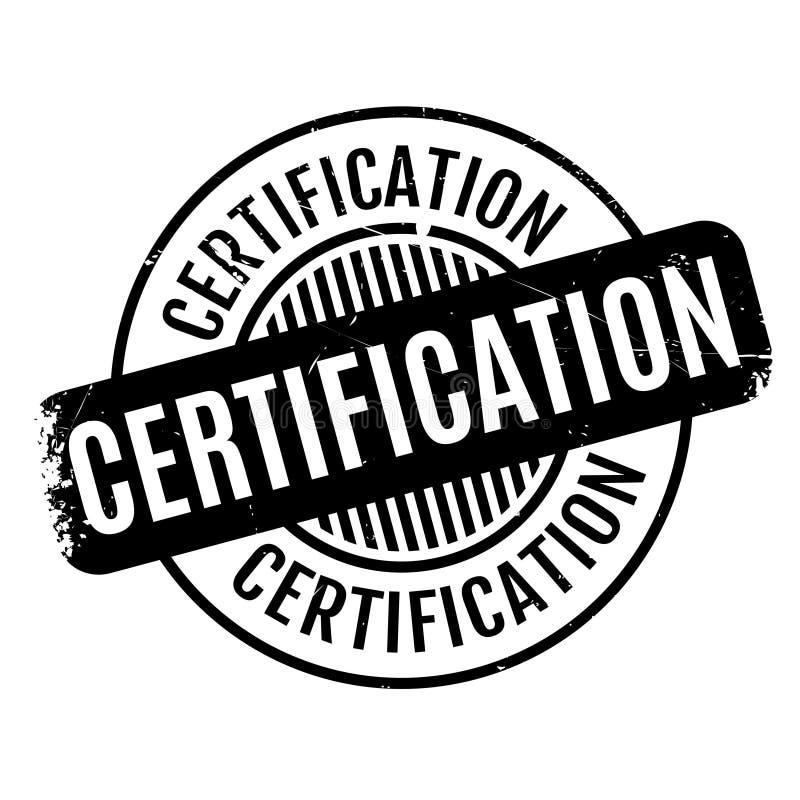 Tampon En Caoutchouc De Certification Illustration De Vecteur