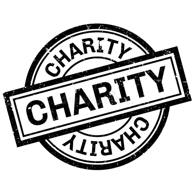Tampon en caoutchouc de charité illustration stock