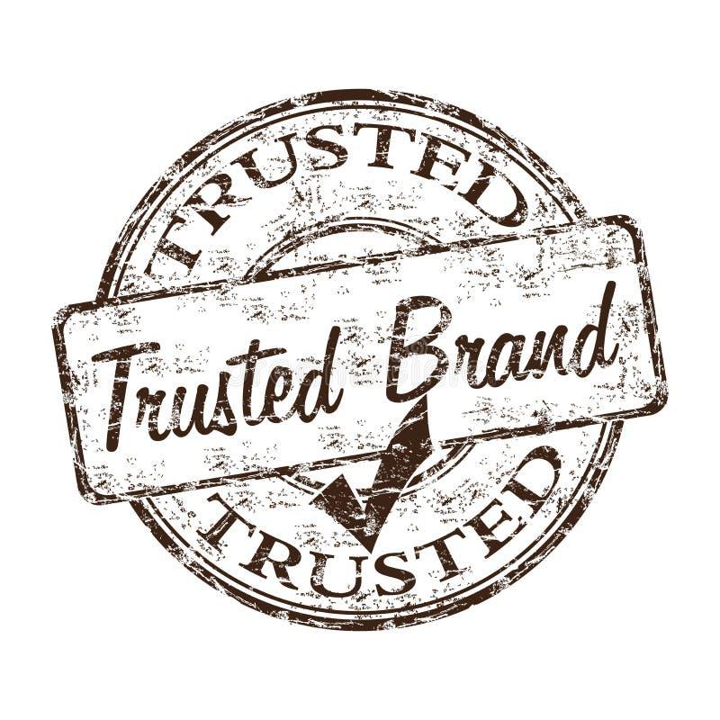 Tampon en caoutchouc de confiance de marque illustration libre de droits