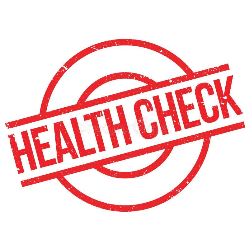 Tampon en caoutchouc de contrôle de santé images libres de droits