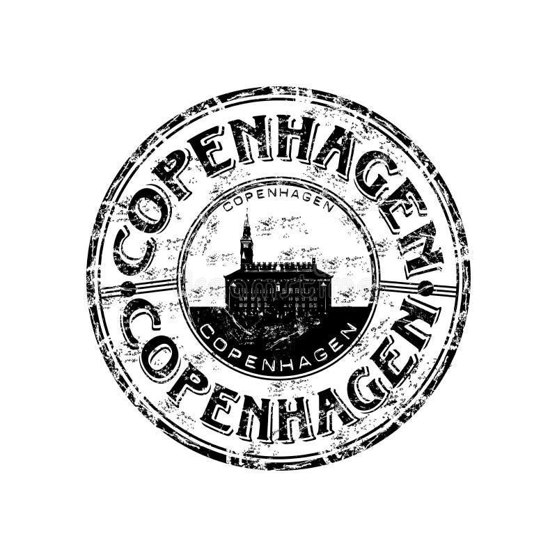 Tampon en caoutchouc de Copenhague illustration de vecteur