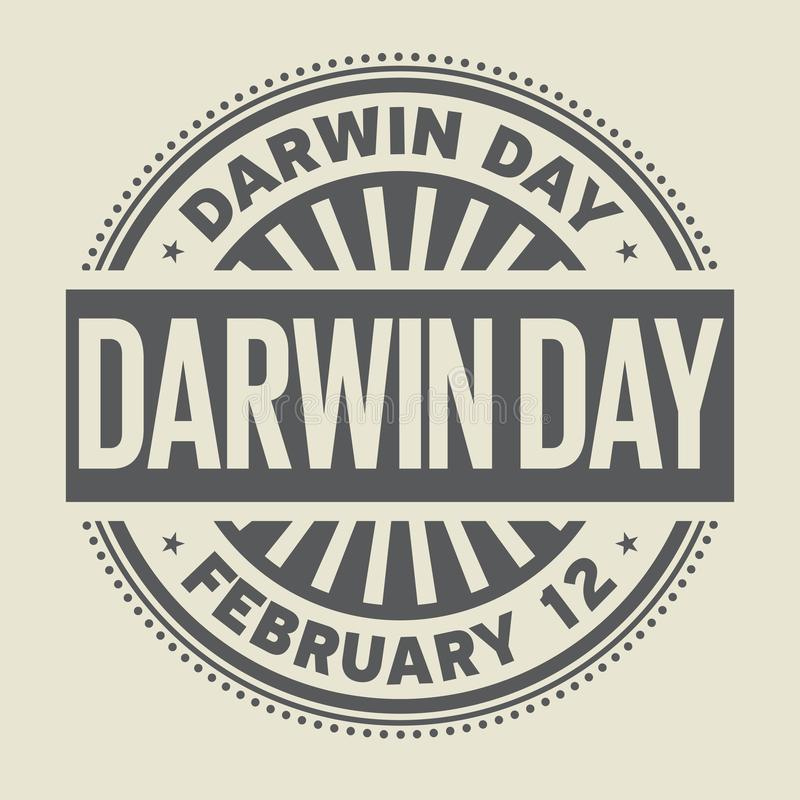 Tampon en caoutchouc de Darwin Day illustration libre de droits