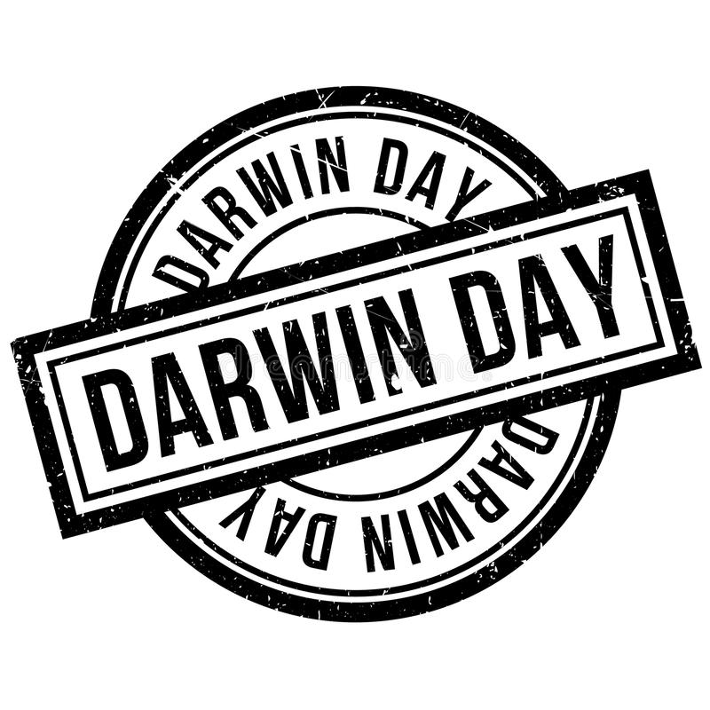 Tampon en caoutchouc de Darwin Day illustration de vecteur