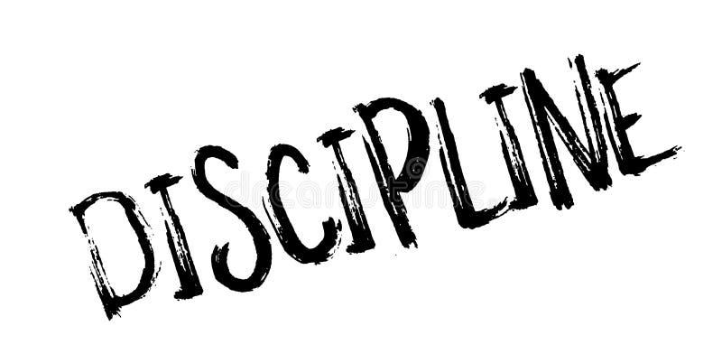 Tampon en caoutchouc de discipline illustration de vecteur