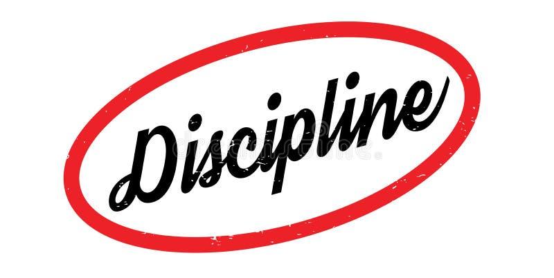 Tampon en caoutchouc de discipline illustration stock