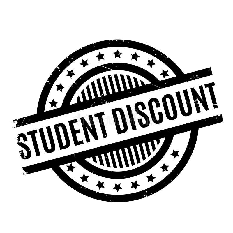 Tampon en caoutchouc de Discount d'étudiant illustration stock