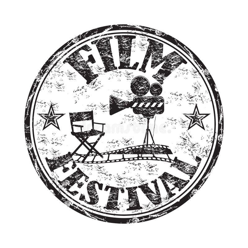 Tampon en caoutchouc de festival de film illustration de vecteur
