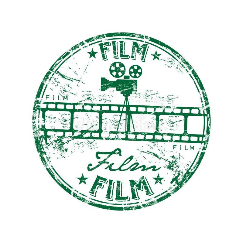 tampon en caoutchouc de film illustration libre de droits