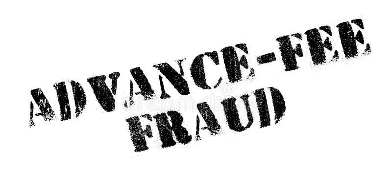 Tampon en caoutchouc de fraude d'Avance-honoraires illustration de vecteur