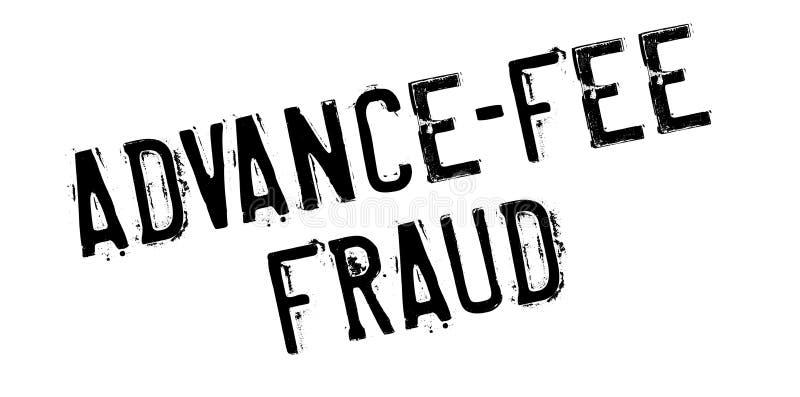 Tampon en caoutchouc de fraude d'Avance-honoraires illustration libre de droits