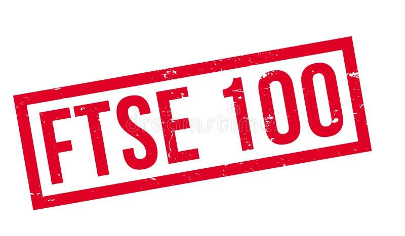 Tampon en caoutchouc de Ftse 100 illustration libre de droits
