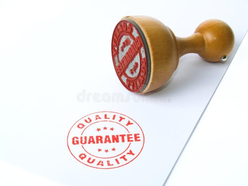 Tampon en caoutchouc de garantie photo libre de droits