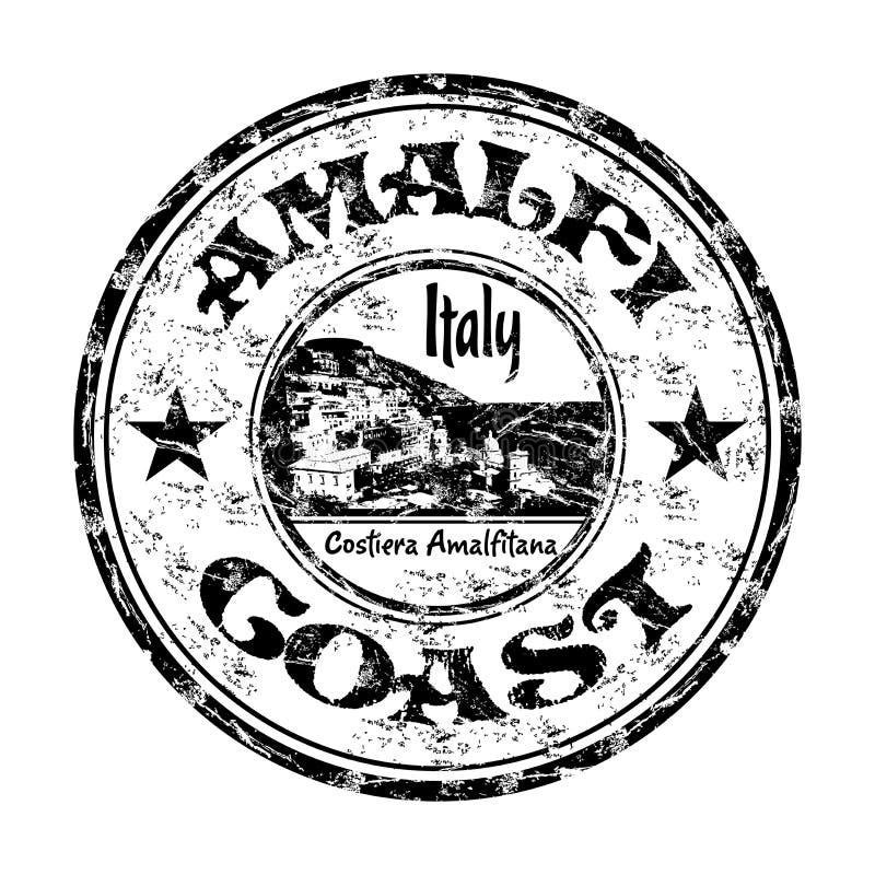 Tampon en caoutchouc de grunge de côte d'Amalfi illustration de vecteur