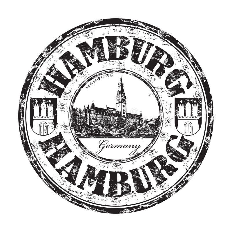 Tampon en caoutchouc de grunge de Hambourg illustration stock