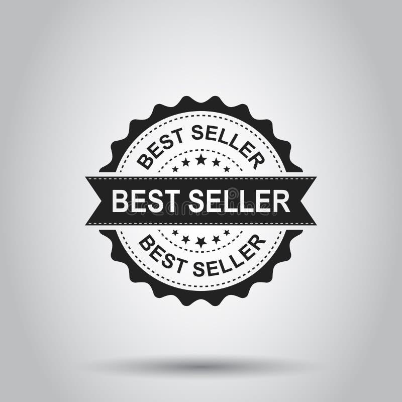 Tampon en caoutchouc de grunge du best-seller Illustration de vecteur sur le Ba blanc illustration de vecteur