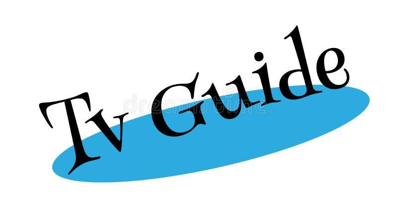 Tampon en caoutchouc de guide de TV illustration de vecteur
