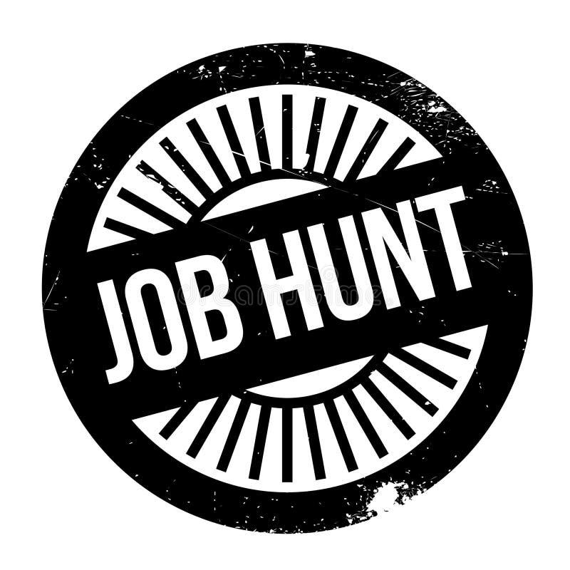 Tampon en caoutchouc de Job Hunt illustration stock