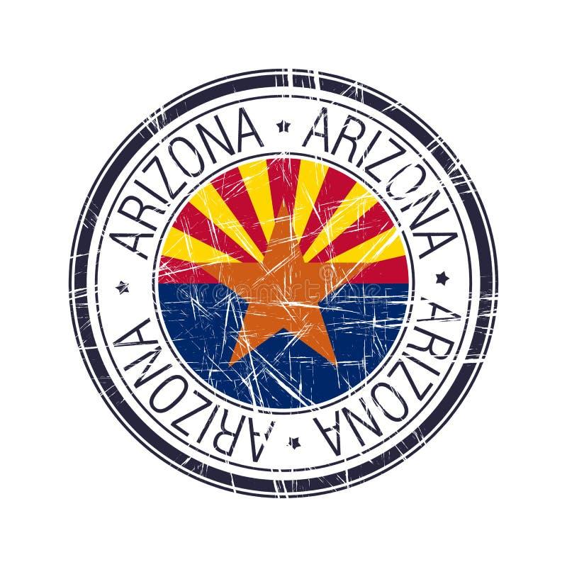 Tampon en caoutchouc de l'Arizona illustration libre de droits