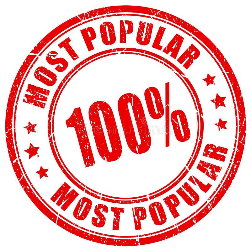 Tampon en caoutchouc de les plus populaires illustration de vecteur