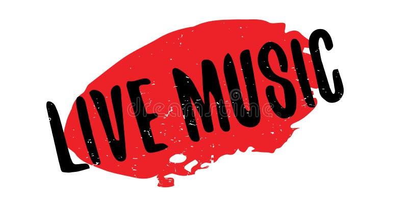 Tampon en caoutchouc de Live Music illustration de vecteur