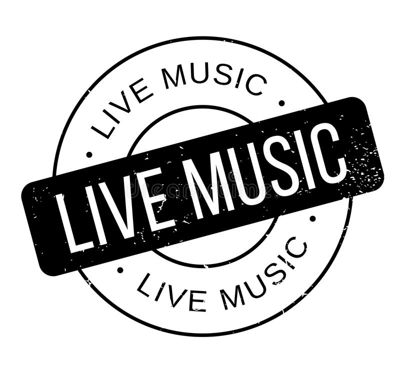 Tampon en caoutchouc de Live Music illustration libre de droits