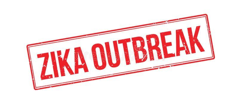Tampon en caoutchouc de manifestation de Zika illustration libre de droits