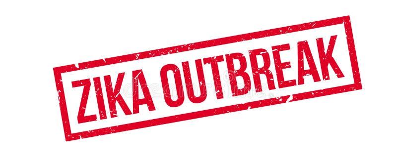 Tampon en caoutchouc de manifestation de Zika illustration de vecteur