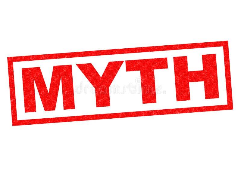 Tampon en caoutchouc de mythe illustration de vecteur