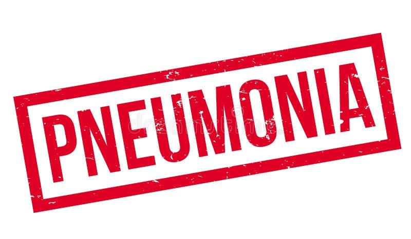 Tampon en caoutchouc de pneumonie illustration libre de droits