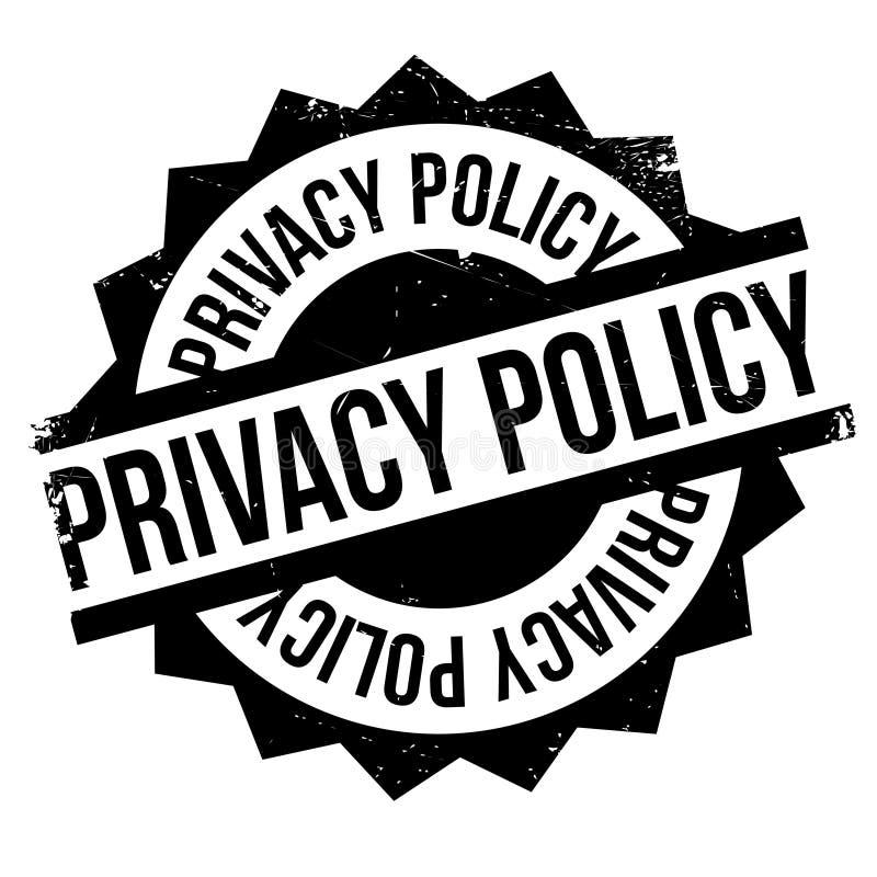 Tampon en caoutchouc de politique de confidentialité illustration stock