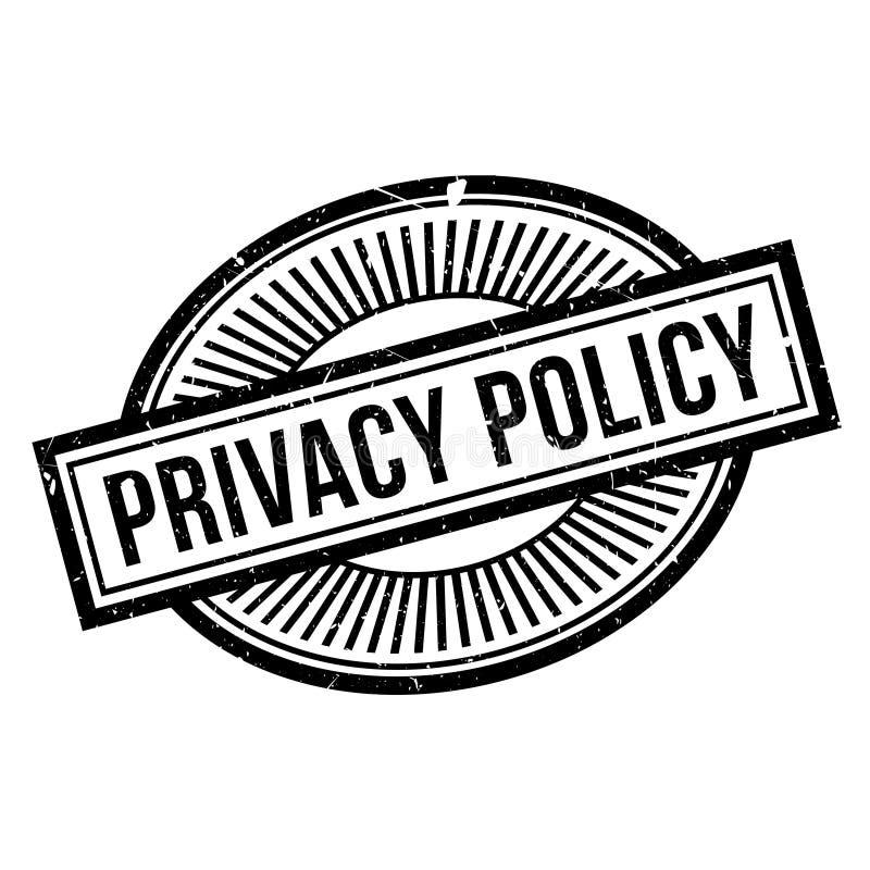 Tampon en caoutchouc de politique de confidentialité illustration libre de droits