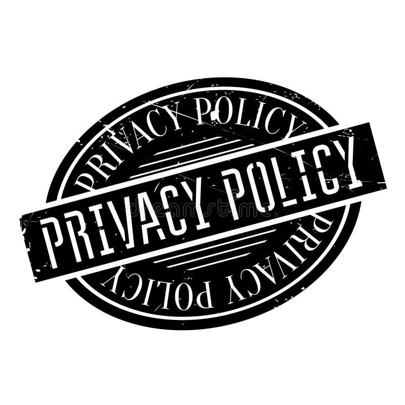 Tampon en caoutchouc de politique de confidentialité illustration de vecteur