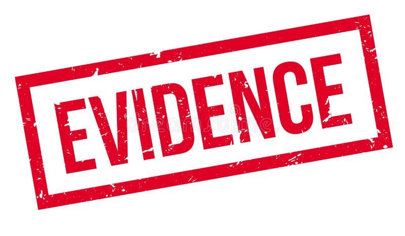 Tampon en caoutchouc de preuves illustration de vecteur