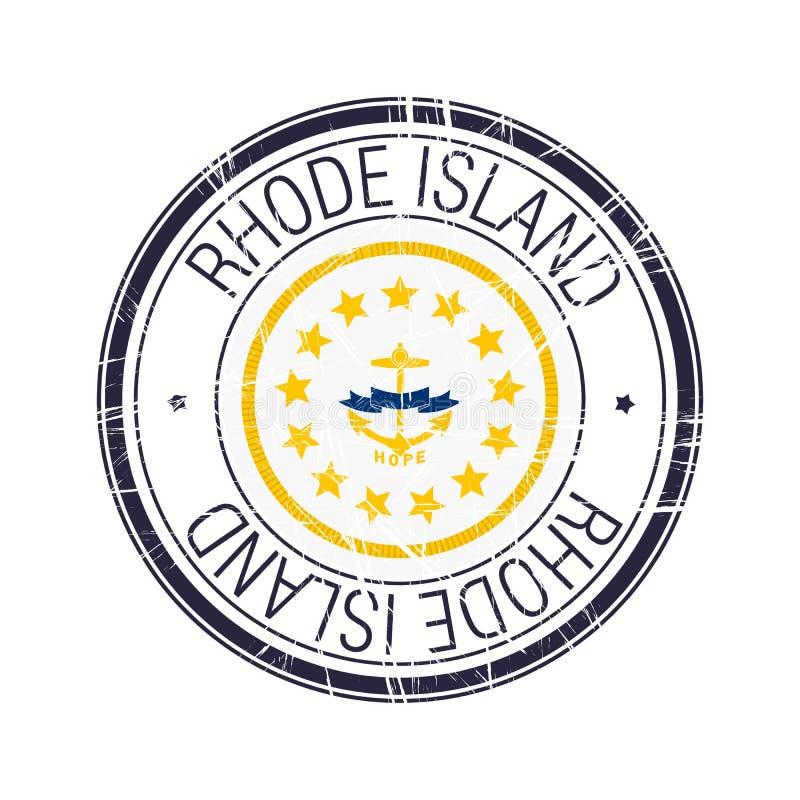 Tampon en caoutchouc de Rhode Island illustration libre de droits