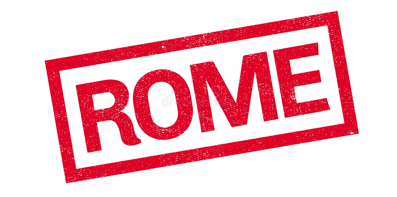 Tampon en caoutchouc de Rome illustration de vecteur