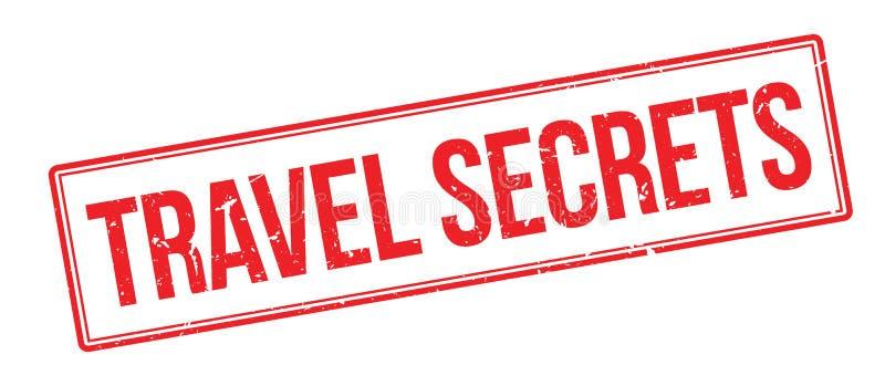 Tampon en caoutchouc de secrets de voyage illustration libre de droits